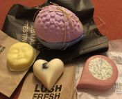 Mini haul from a lush naked store today :) babyface, argan dragon shower oil, an easter bath bomb and my favourite mainline massage bar. I'm so excited to use them!! Wish the naked items were available in all stores! from naked bath scene
